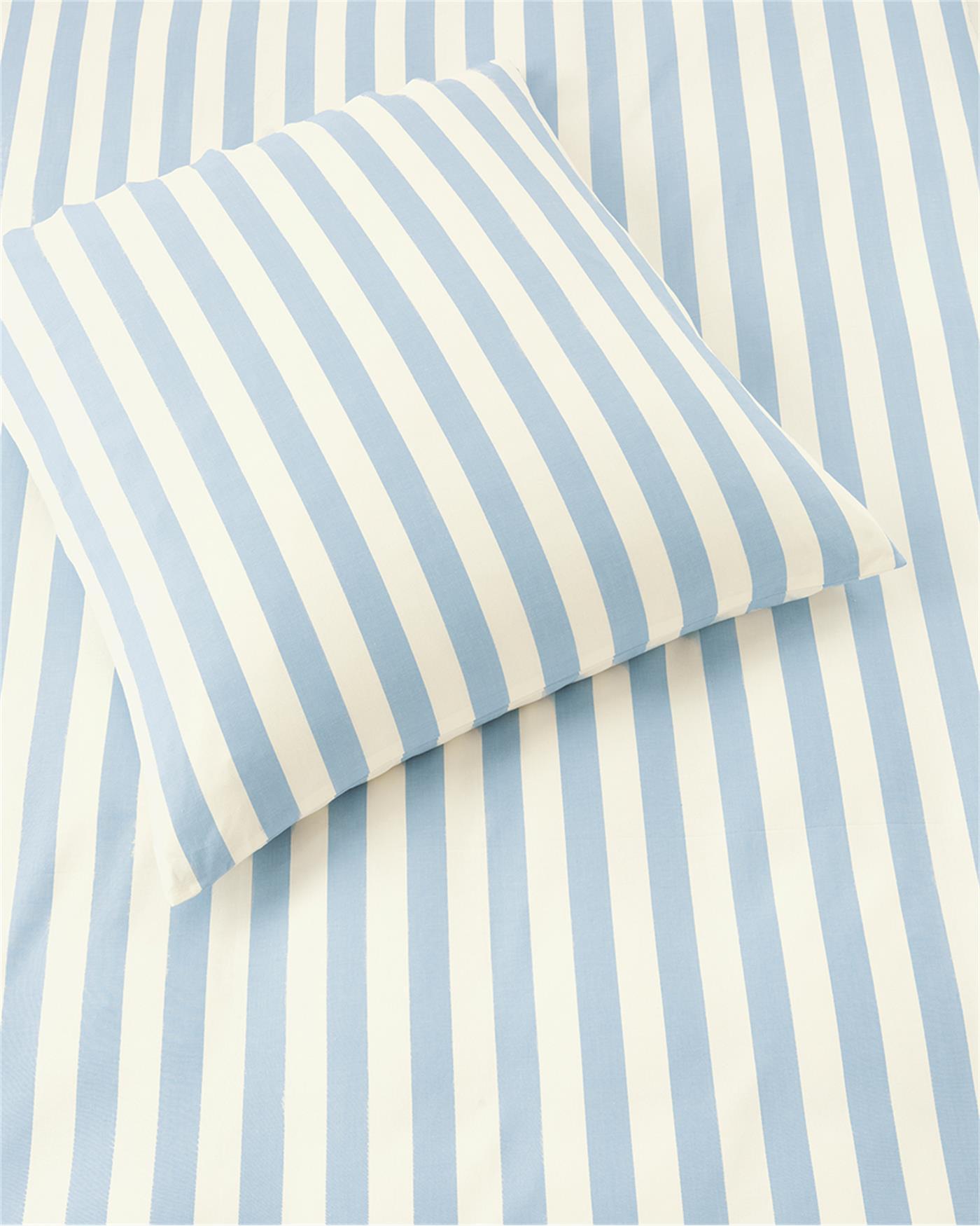 Bettwäsche Blau Weiß Gestreift