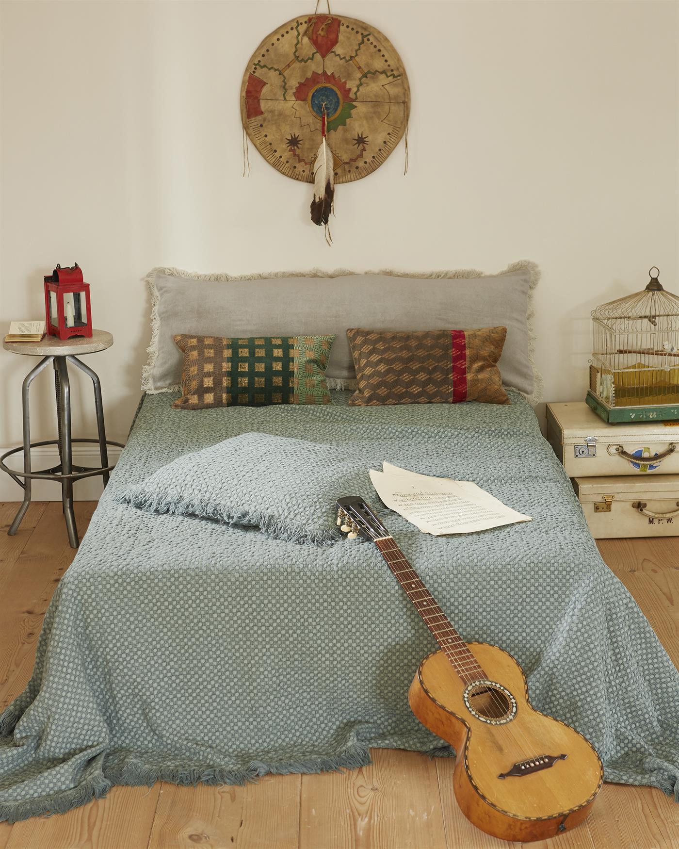 bettdecke mit fransen. Black Bedroom Furniture Sets. Home Design Ideas