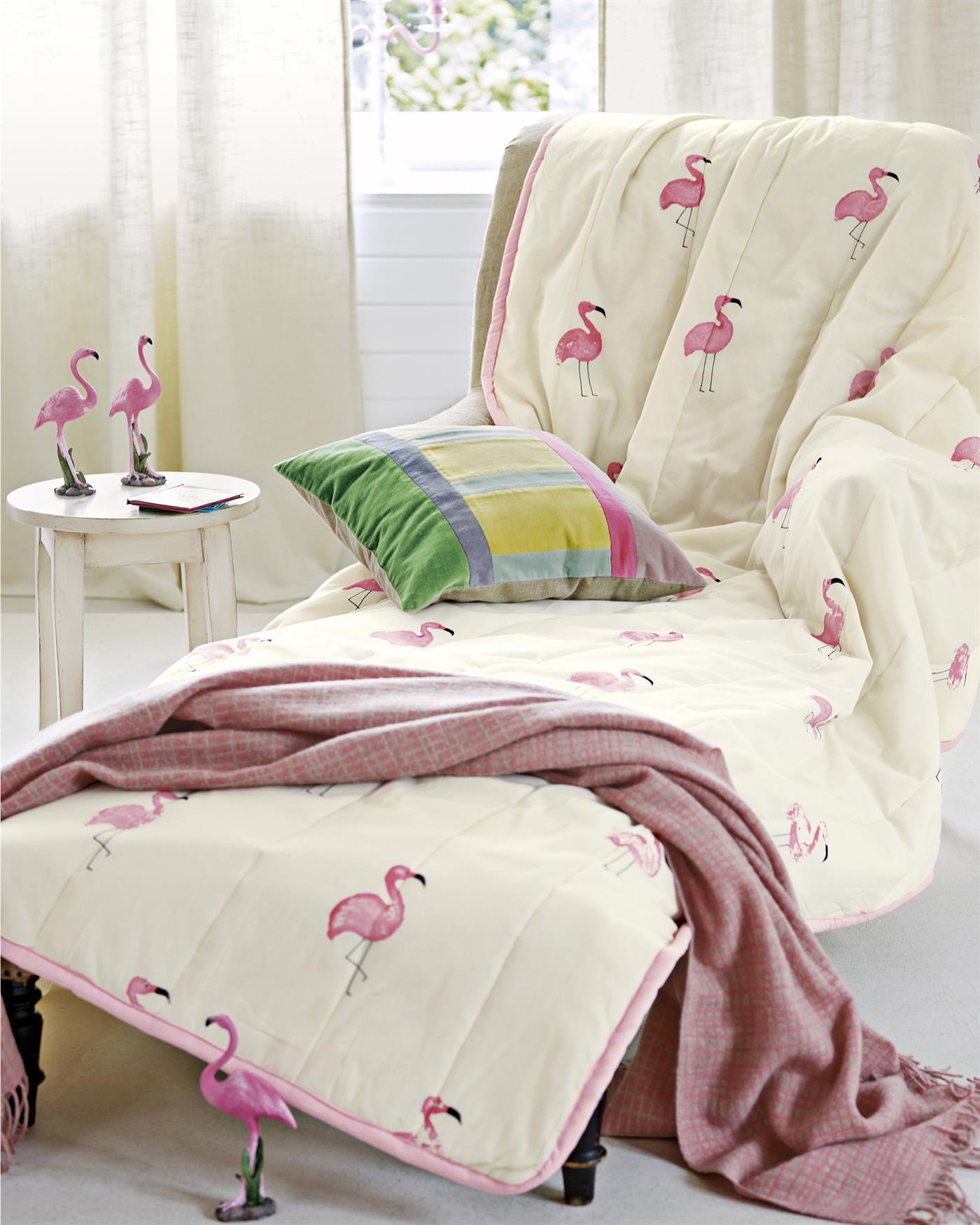 steppdecke flamingo. Black Bedroom Furniture Sets. Home Design Ideas
