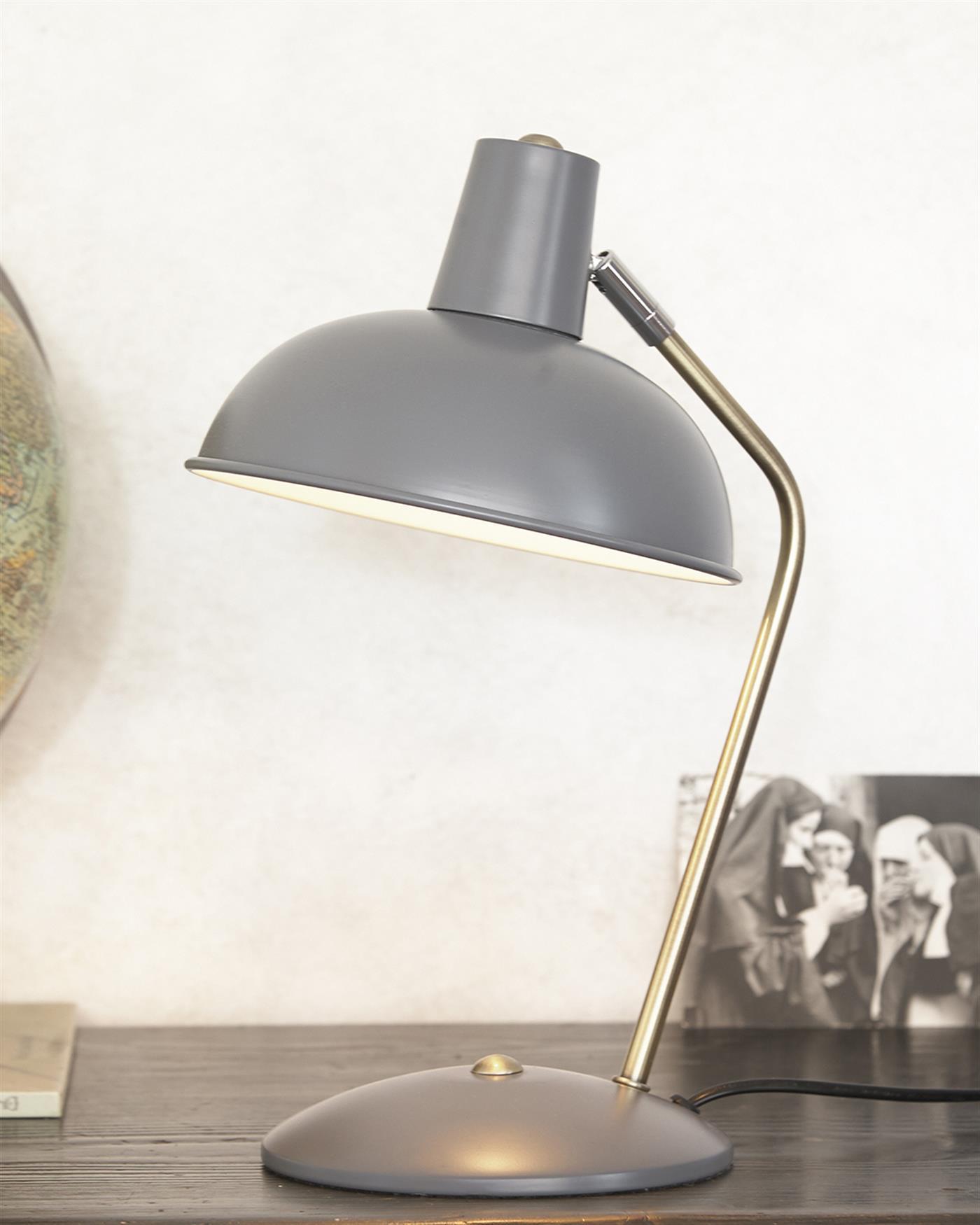 tischlampe grau. Black Bedroom Furniture Sets. Home Design Ideas