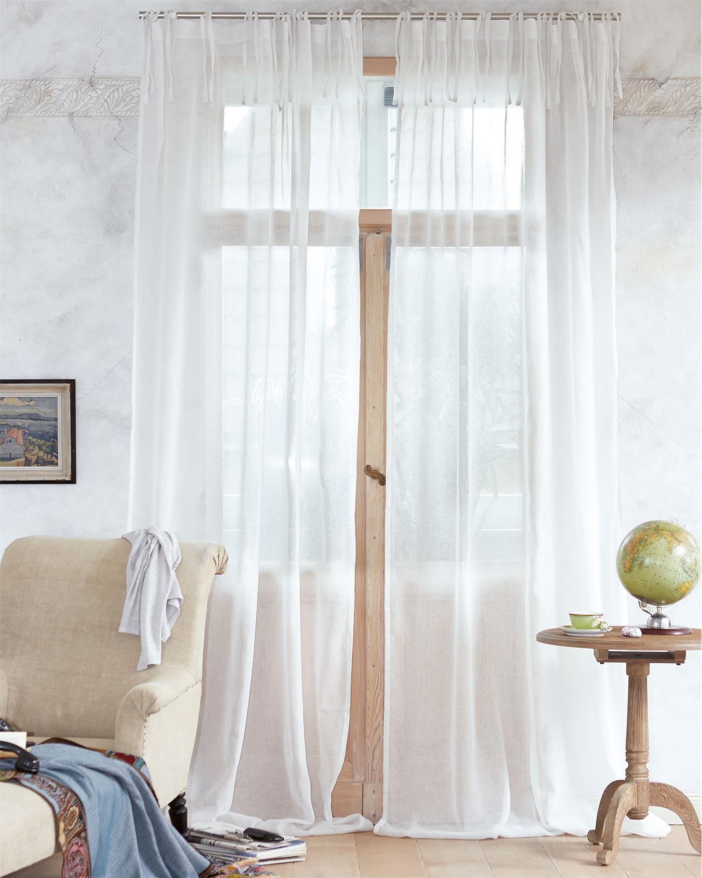 leinen gardinen transparent hcvc. Black Bedroom Furniture Sets. Home Design Ideas