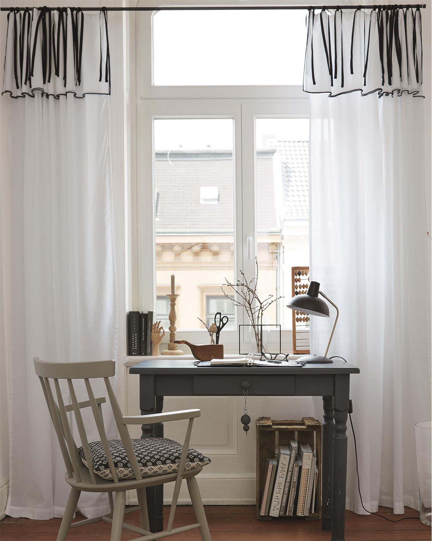 voilevorhang schwarz wei. Black Bedroom Furniture Sets. Home Design Ideas