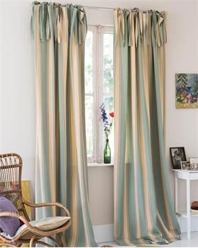 Streifenvorhang mint-beige-lila
