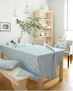 Tischdecke mint-lila