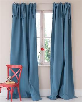 Baumwollvorhang blau