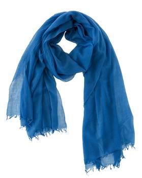 Wollschal blau