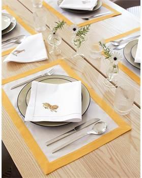 Tischset gelber Rand