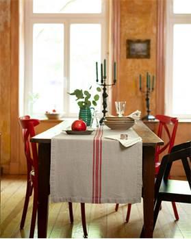 Tischläufer roter Streifen