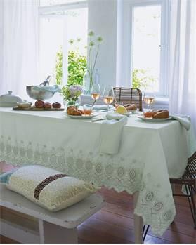 Tischdecke helltürkis