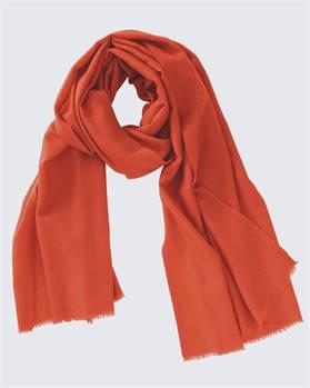 Kaschmirschal orangerot