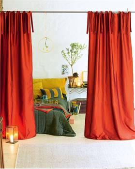 Vorhang orangerot