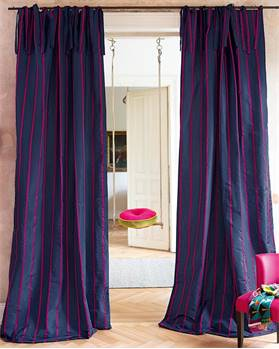Vorhang, blau-pink