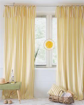 Vorhang Streifen, gelb-weiß