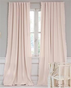 Vorhang mit Fransen, rosa