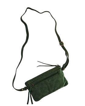 Tasche aus Leder in grün