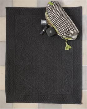 Badvorleger dunkelgraphit, Baumwolle