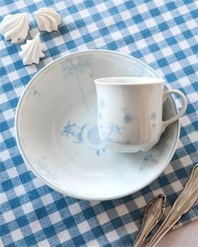 Frühstücksgeschirr blau