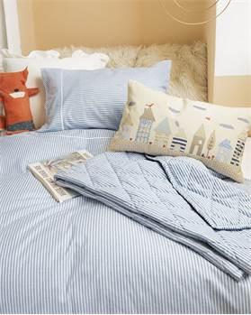 Kinderbettwäsche, hellblau, weiche Baumwolle