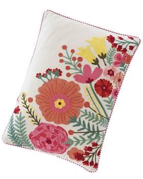 Kissenhülle Blumen, Baumwolle