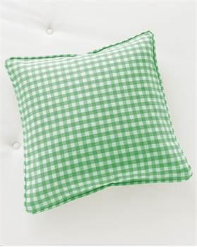 Kissenhülle Ginghamkaro grün