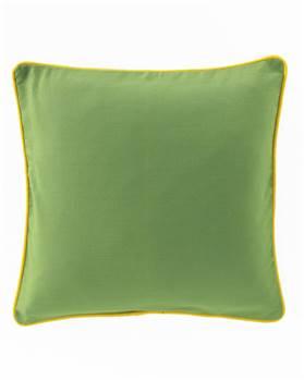 Kissenhülle grün - gelber Keder