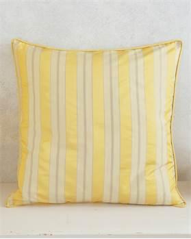 Faux Silk Kissenhülle Gelbe Streifen