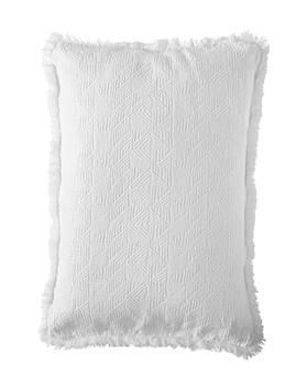 Kissenhülle mit Fransen, weiß, weiche Baumwolle