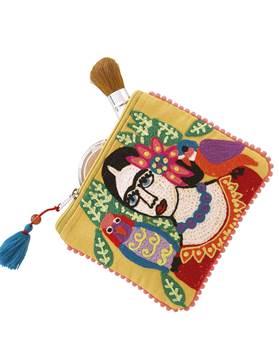 Kleine Tasche Frida, gelb, Baumwolle