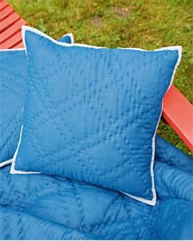 Quiltkissenhülle blau/grau