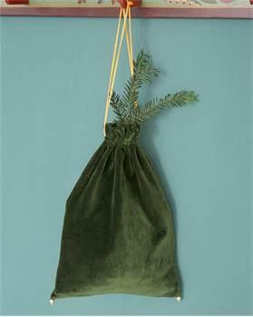 Samtbeutel Grün, Größe M