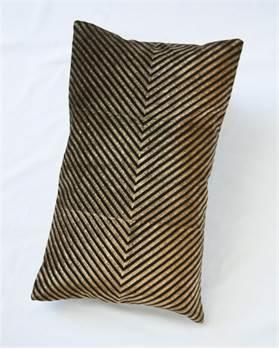 Samtkissenhülle Zacken schwarz-golden