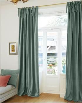 Vorhang, grün, Baumwolle
