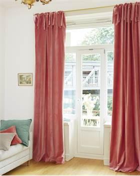 Vorhang, pfirsich, Baumwolle