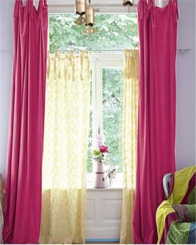 Samtvorhang pink
