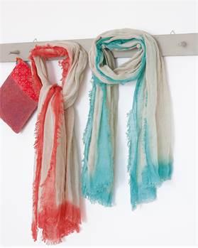 Schal Dip Dye