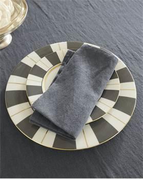Serviette, grau, weiche Baumwolle, Leinen