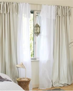 Vorhang, Grau, Natur, Baumwolle