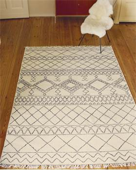 Teppich Rif, Wolle, Baumwolle