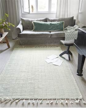 Teppich geflochtene Fransen