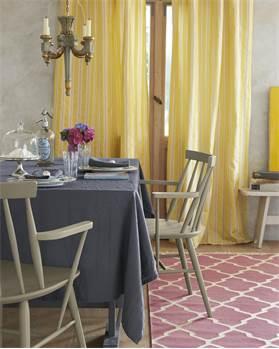 Tischdecke dunkelgrau, Baumwolle, Leinen