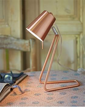 Tischlampe 'Z' kupferfarben