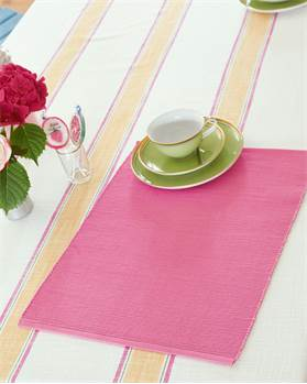 Tischset Flamingopink