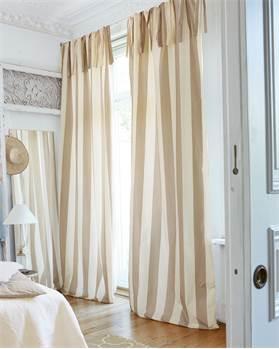 Vorhang Blockstreifen beige-offwhite