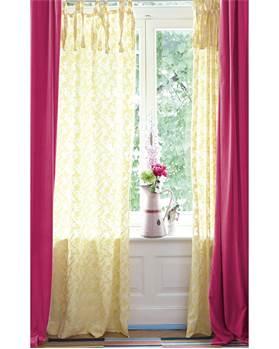 Vorhang Cutwork gelb