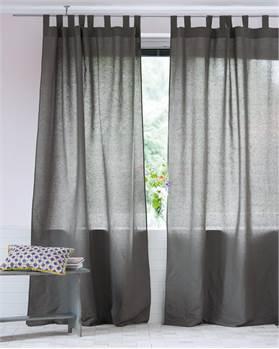 Vorhang Halbleinen grau