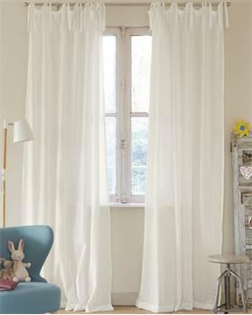 Vorhang Handweboptik, weiß, Baumwolle