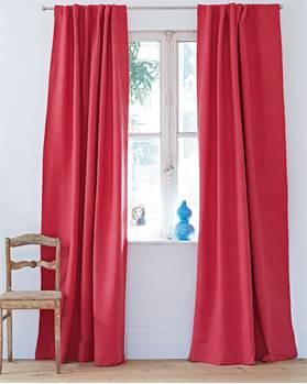 Vorhang Rib Erdbeerrot Baumwolle