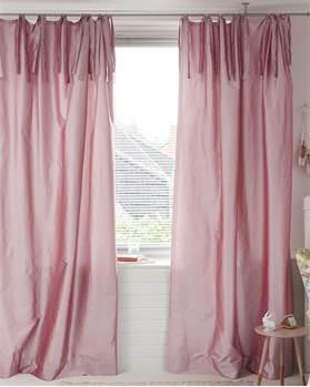 Vorhang silber-rosa