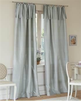 Vorhang, blau, beige, Faux Silk