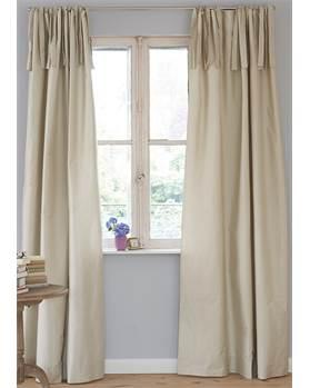 Vorhang silberbeige, Faux-Silk